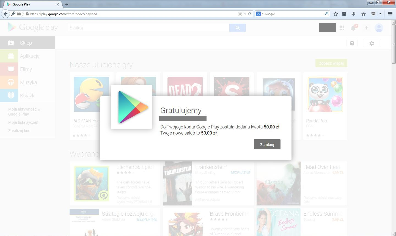 Karty Podarunkowe Google Play Czyli Jak Kupowac Gry Aplikacje Nie