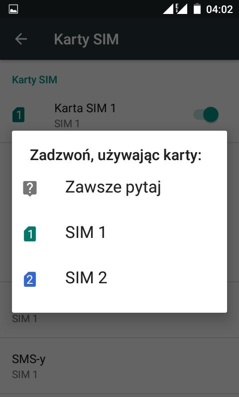 Neffos Y5L - SIM menu