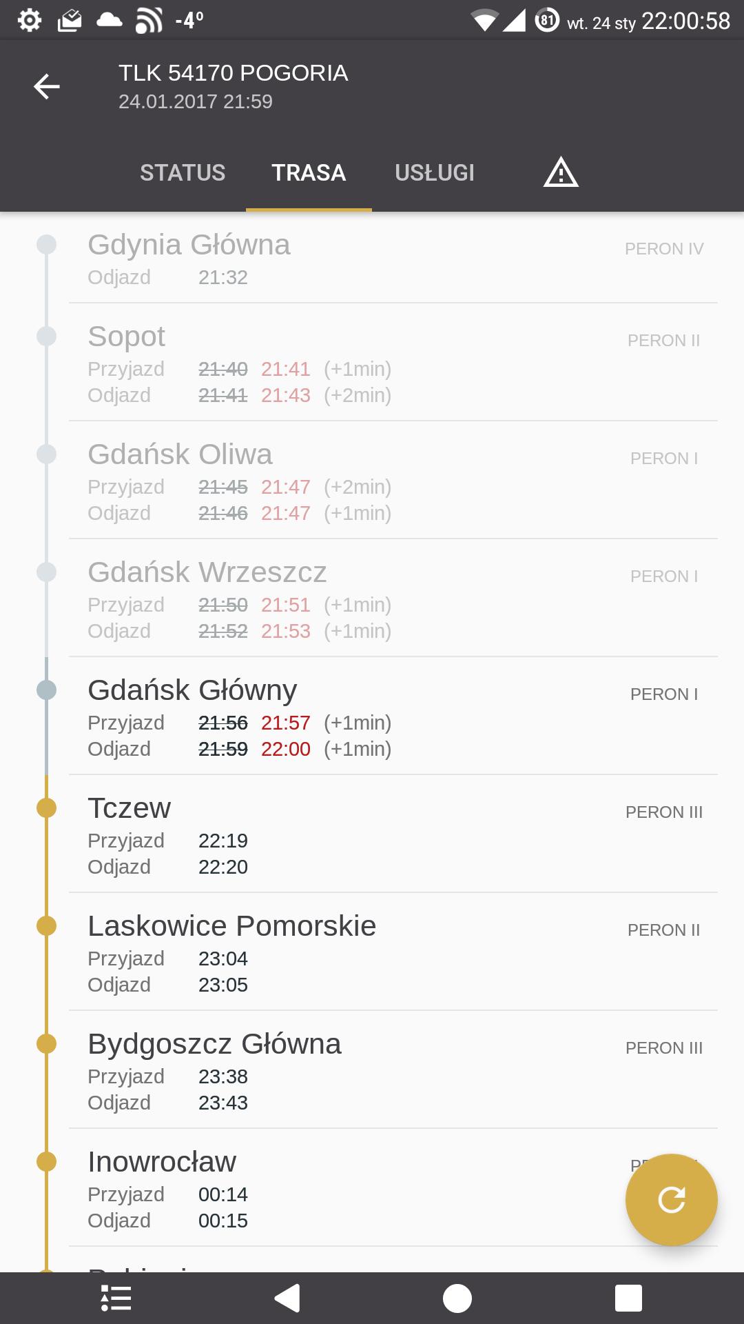 mój pociąg