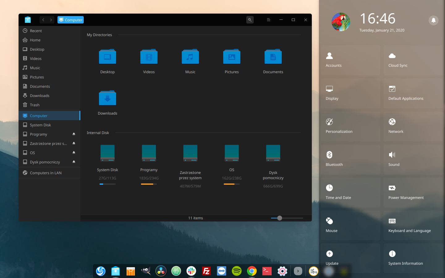 Deepin 15.11 screenshot 1