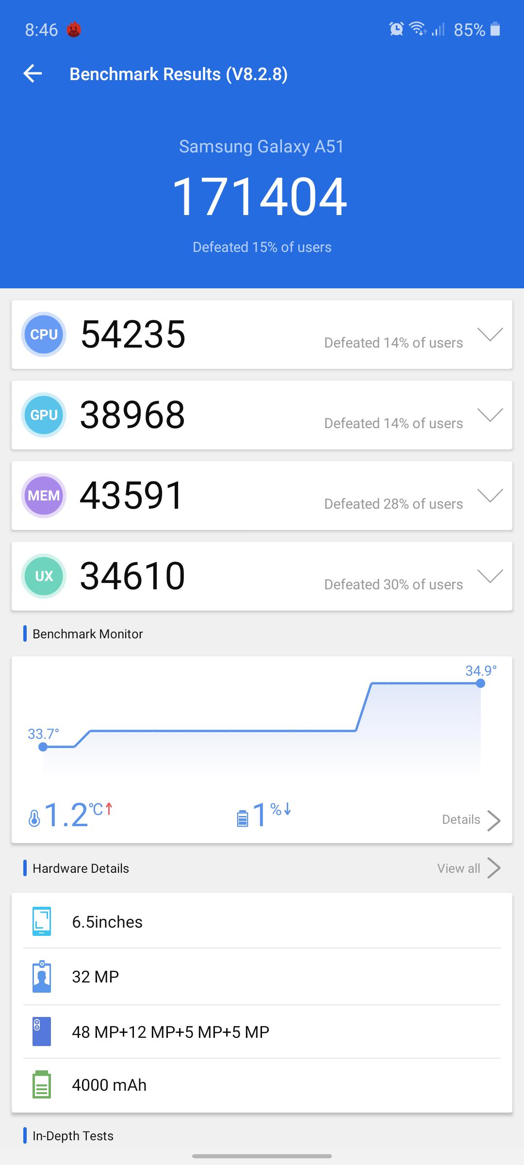 Galaxy A51 benchmark1