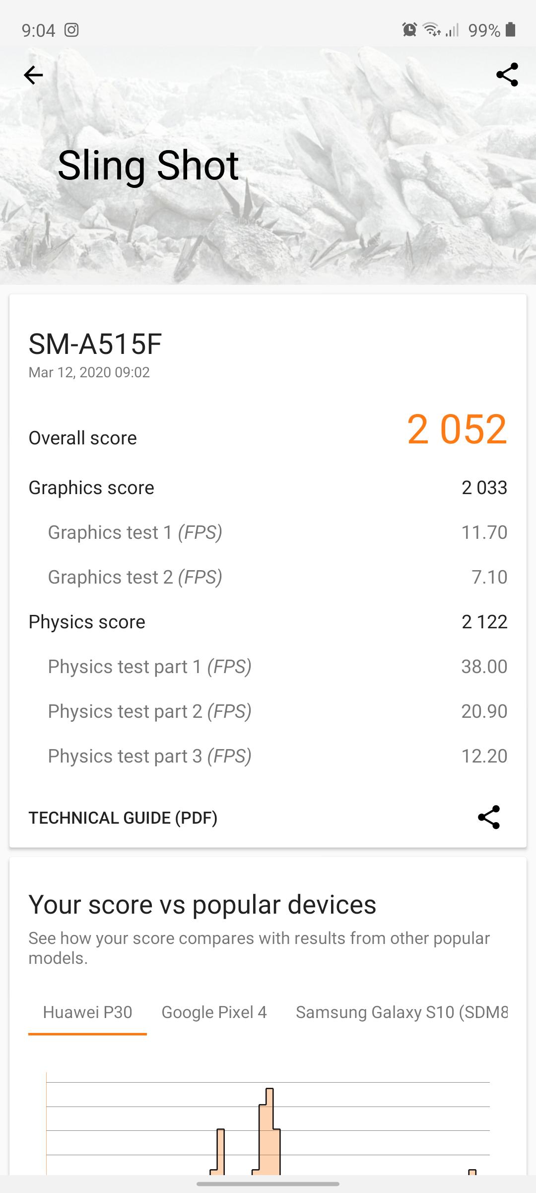 Galaxy A51 benchmark3