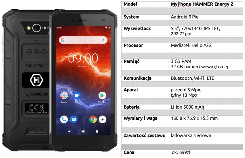MyPhone HAMMER Energy 2 specs