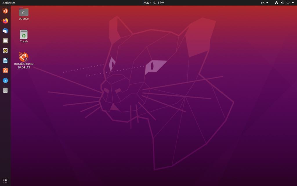 Ubuntu 20.04 LTS Focal Fossa screenshot 1