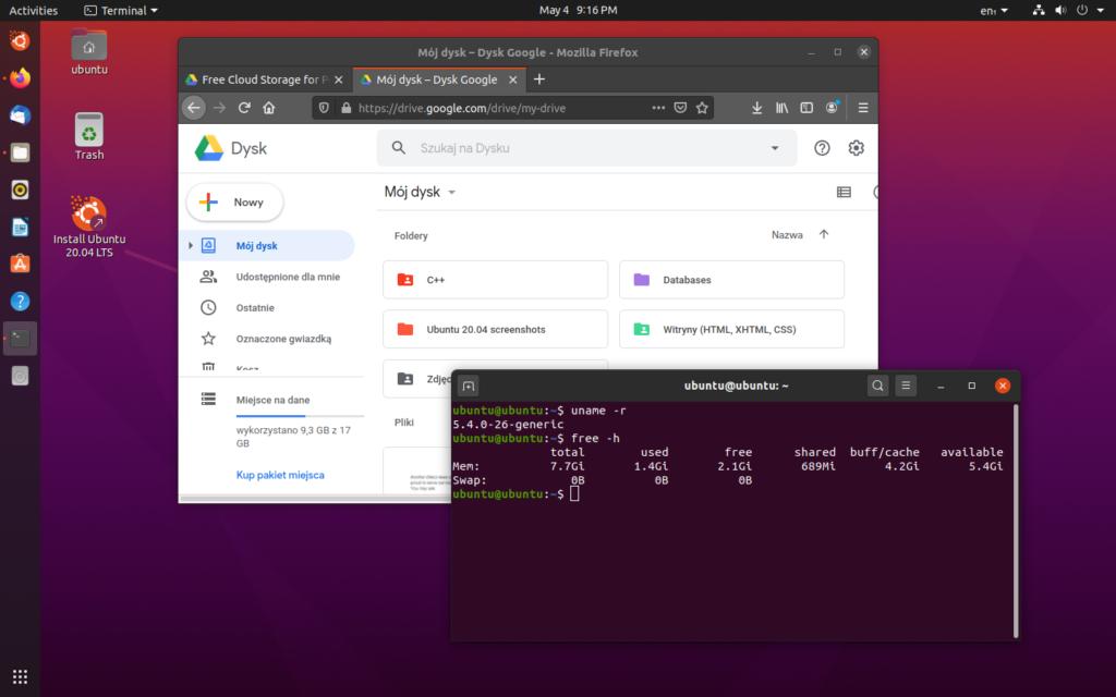 Ubuntu 20.04 LTS Focal Fossa screenshot 4