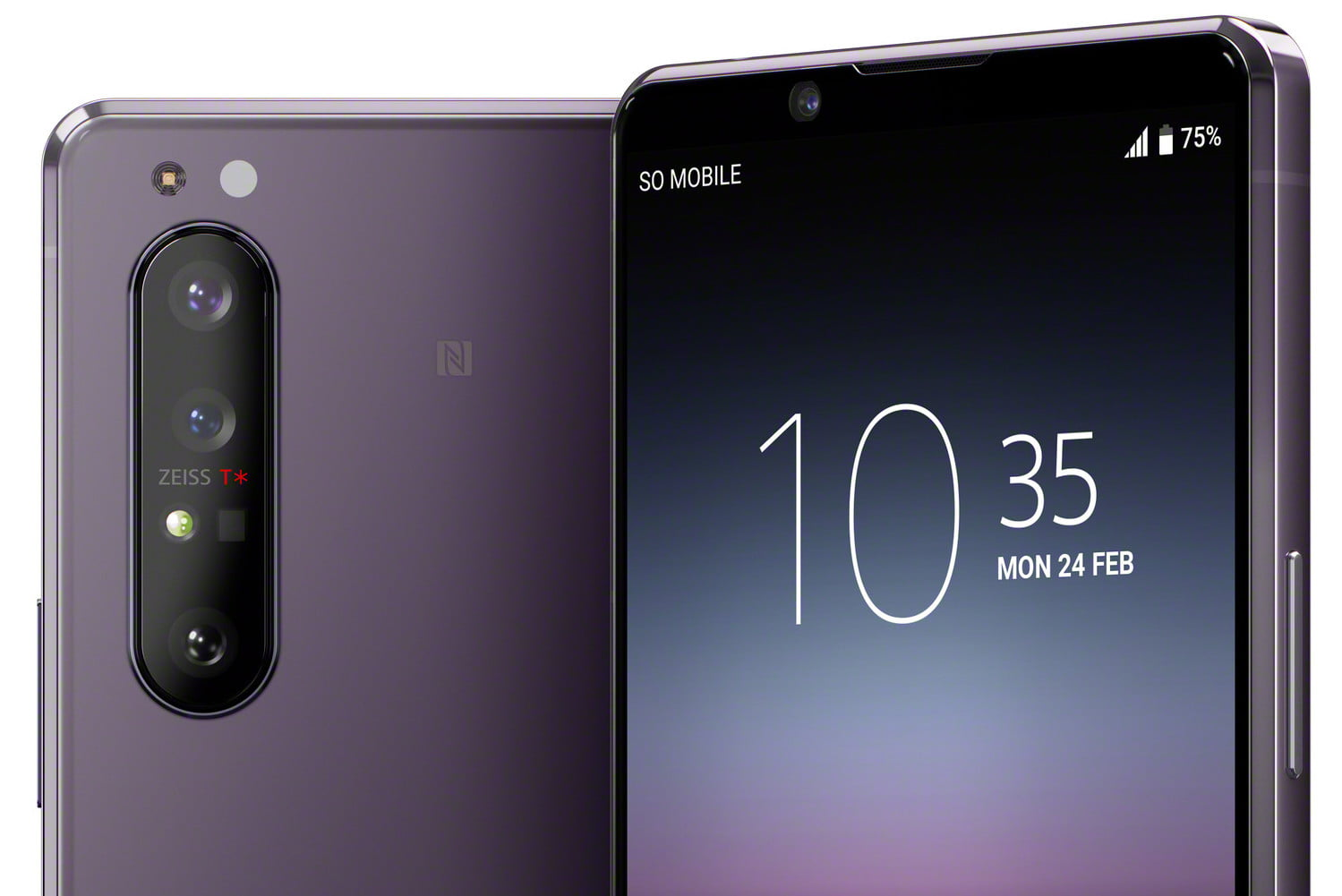 Xperia 1 II purple official render