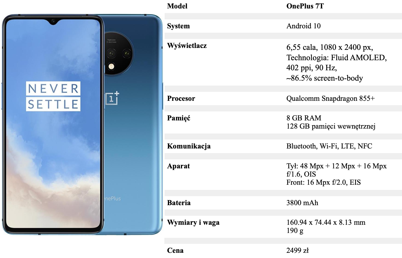 OnePlus 7T tabelka