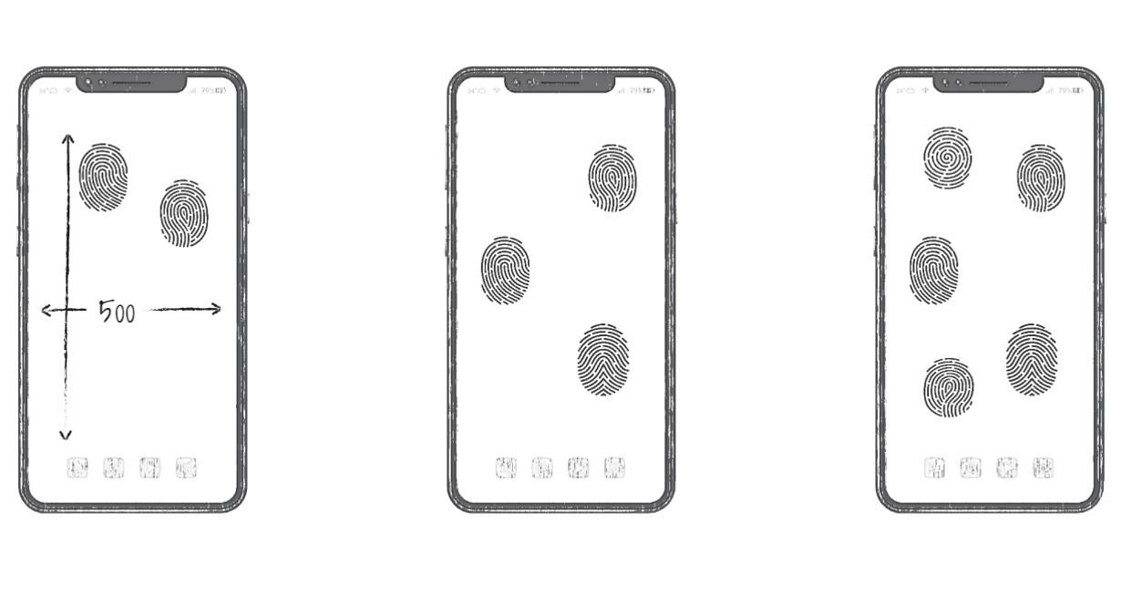 Huawei-all-screen-fingerprint-unlock-patent