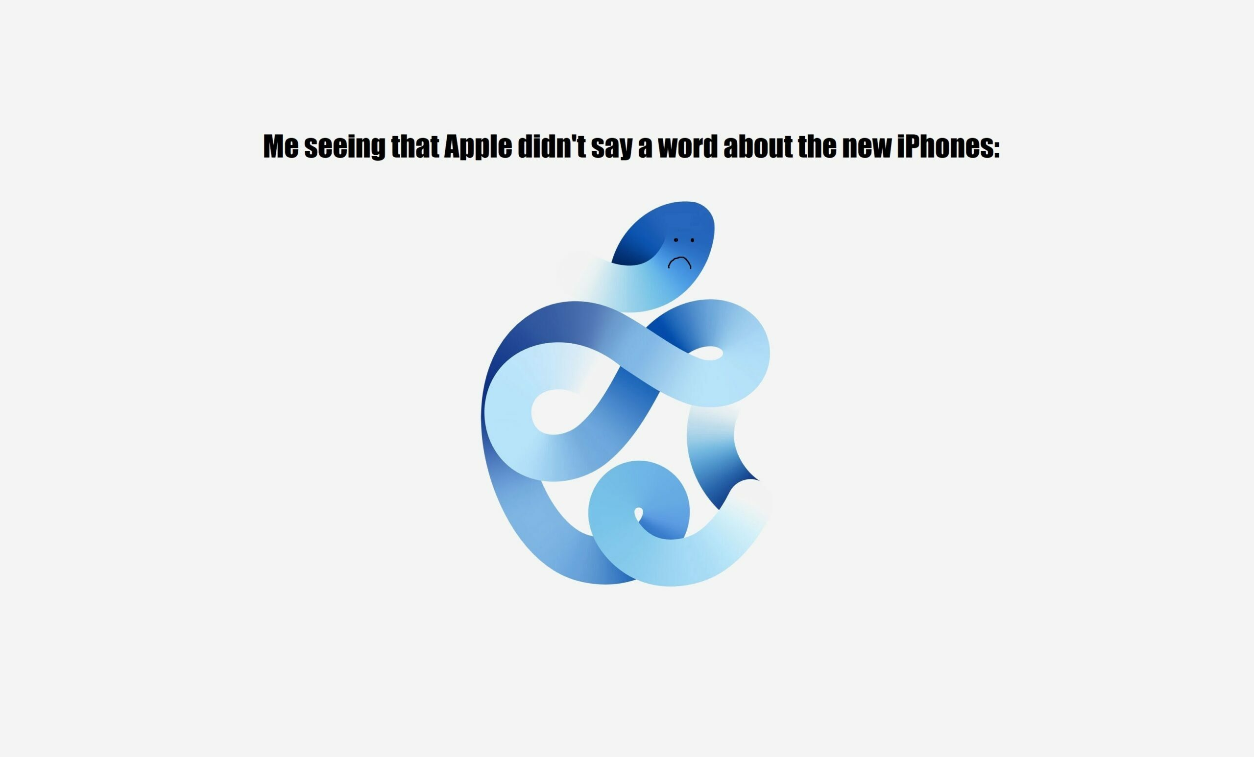 Apple Event September 2020 sadface