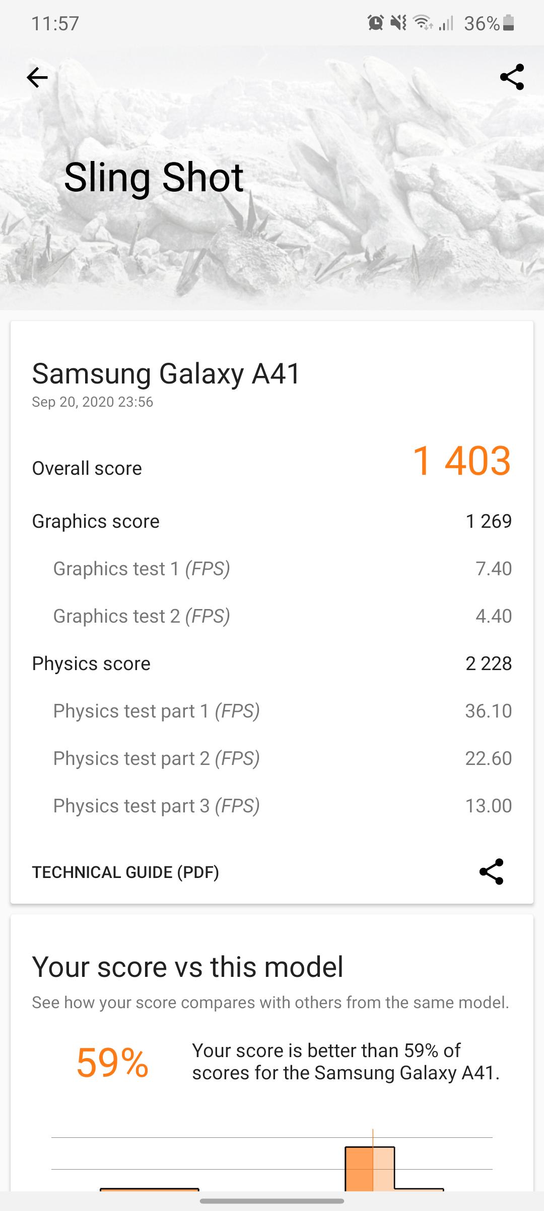 Galaxy A41 benchmark3