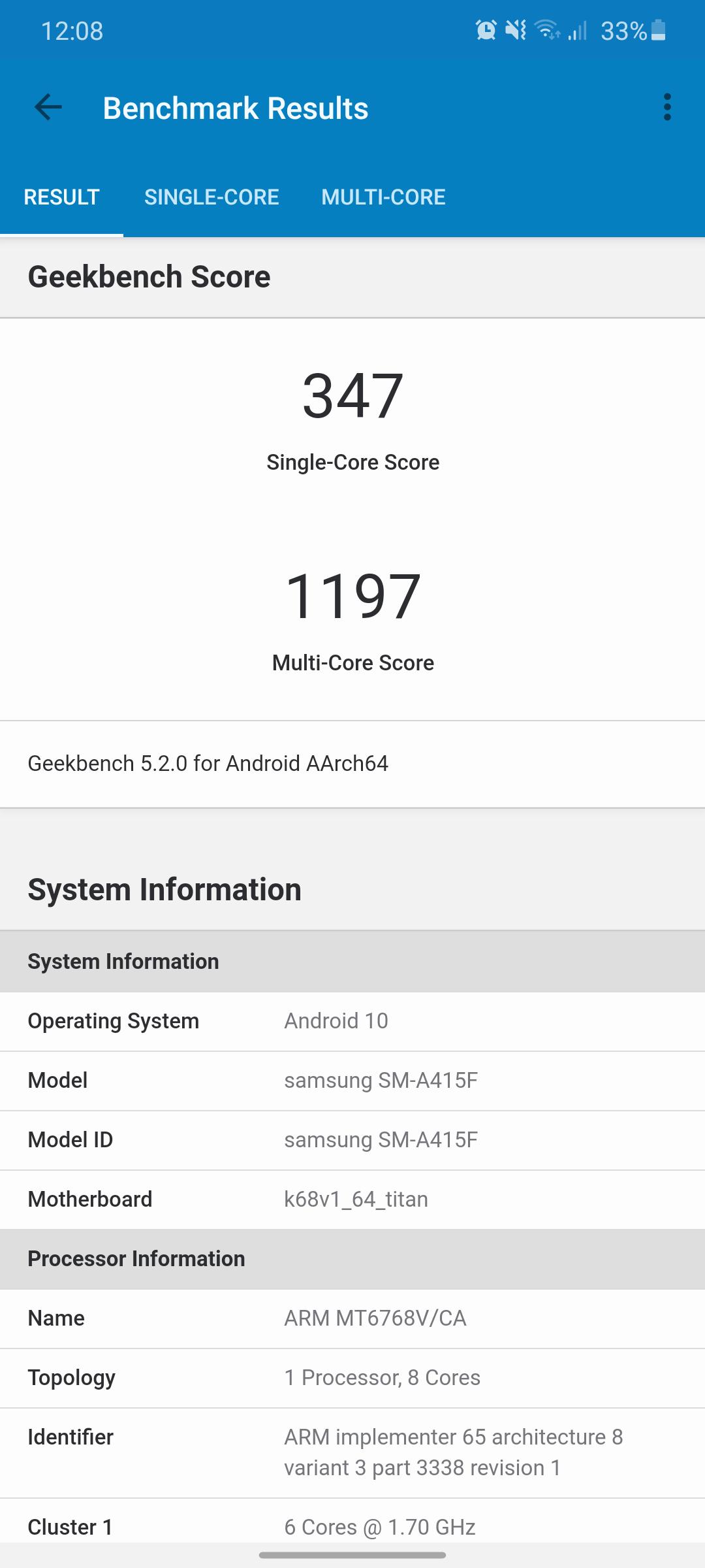 Galaxy A41 benchmark4