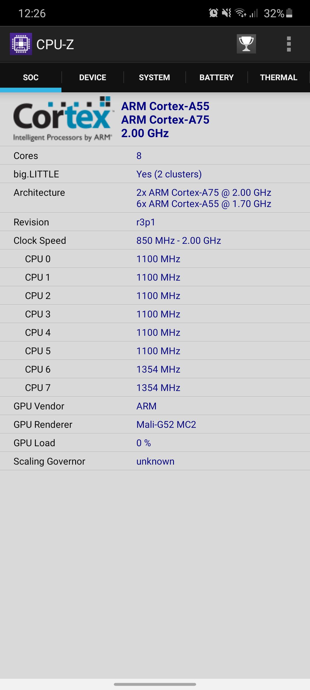 Galaxy A41 benchmark5