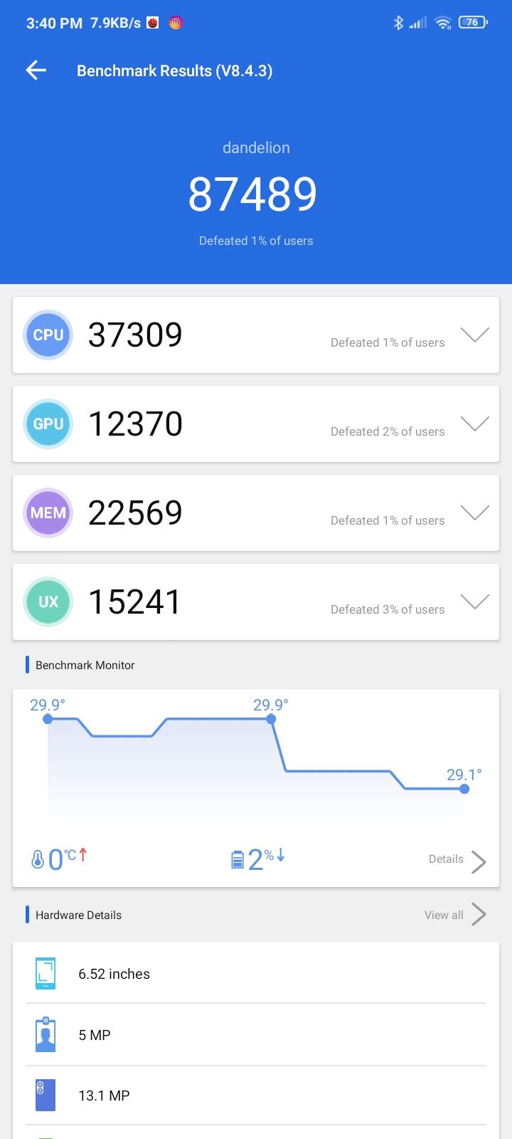 Redmi 9A benchmark1
