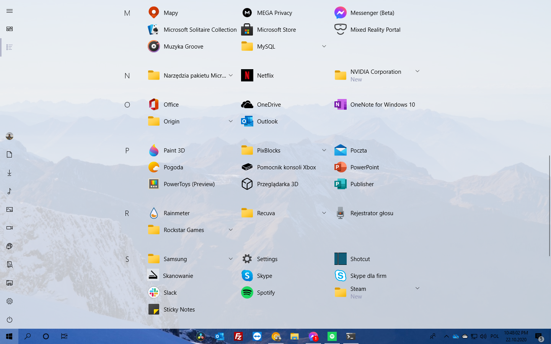 Windows 10 20H2 All Apps List