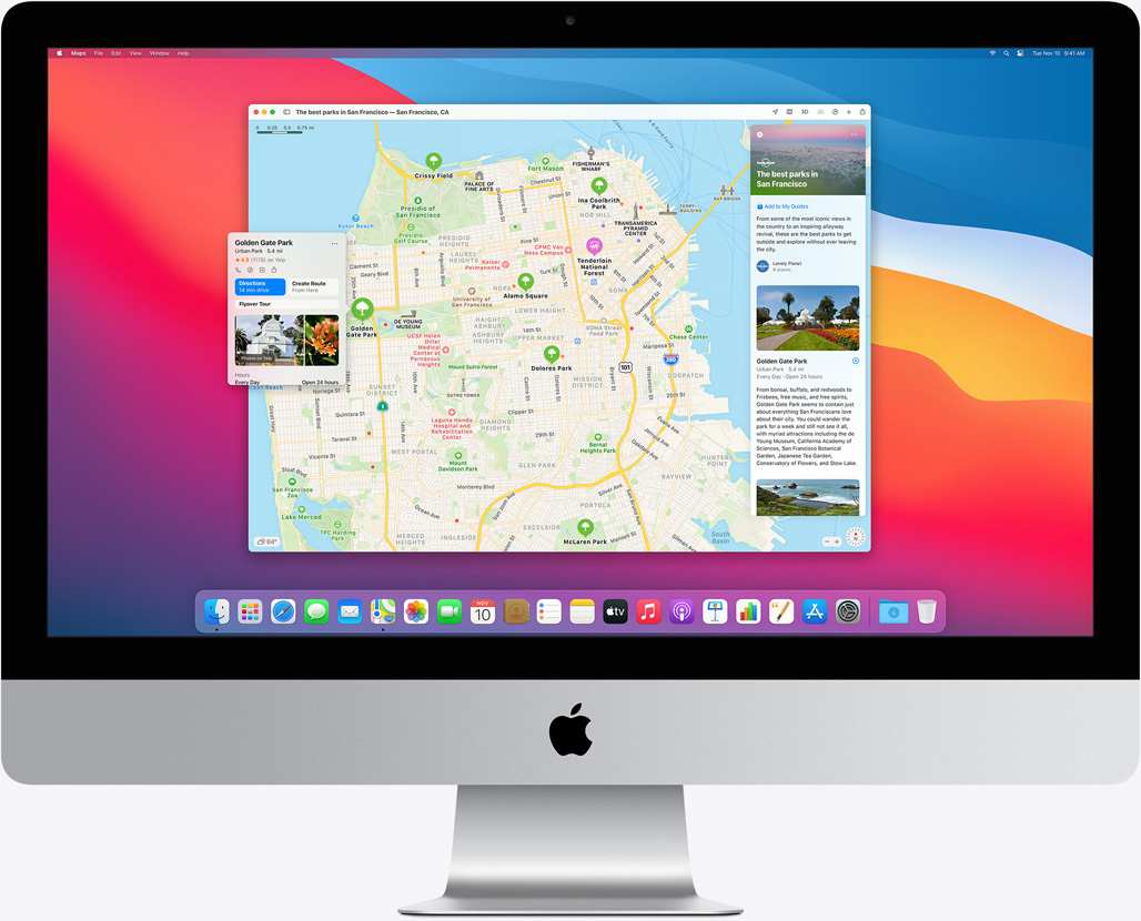 Apple macOS 11 Big Sur on iMac