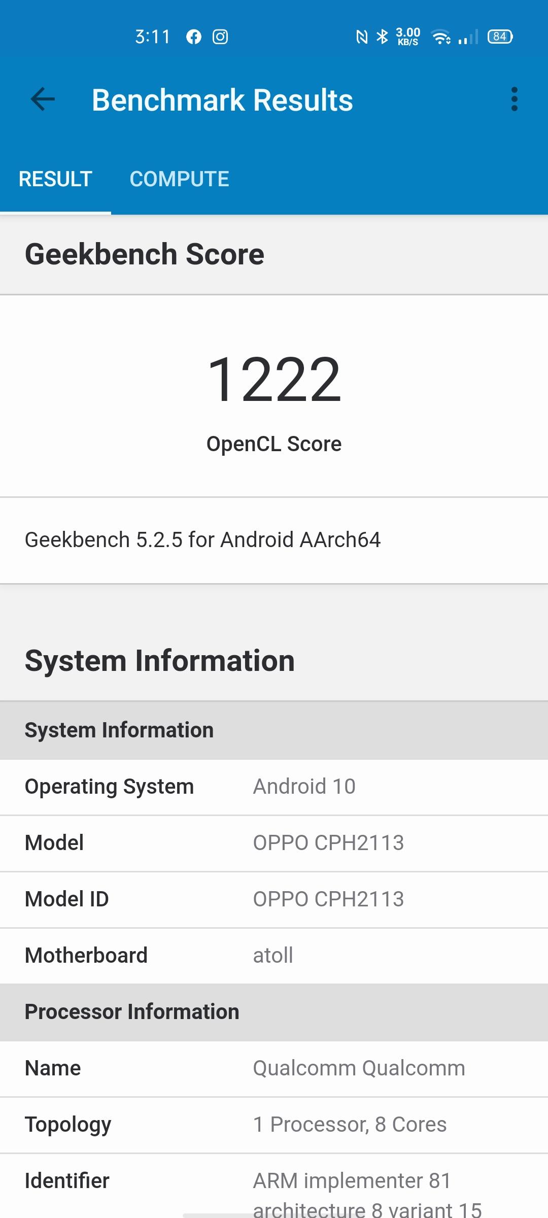 OPPO Reno4 benchmark5