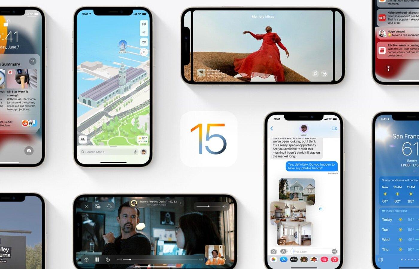 Aktualizacja iOS 15